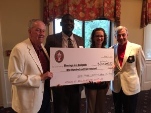 2015-BNFCF donates $105,000 to Blessings in a Backpack